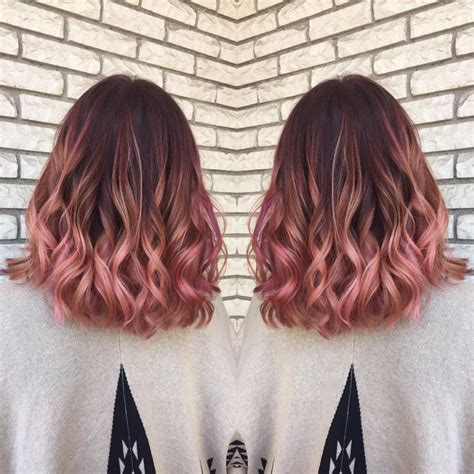rose gold hair color the 25 best rose gold balayage ideas on pinterest fall