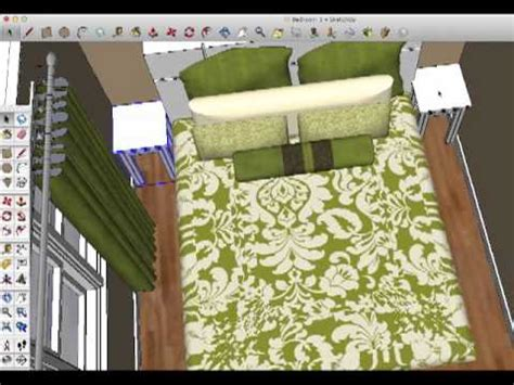 virtual bedroom design sketchup youtube