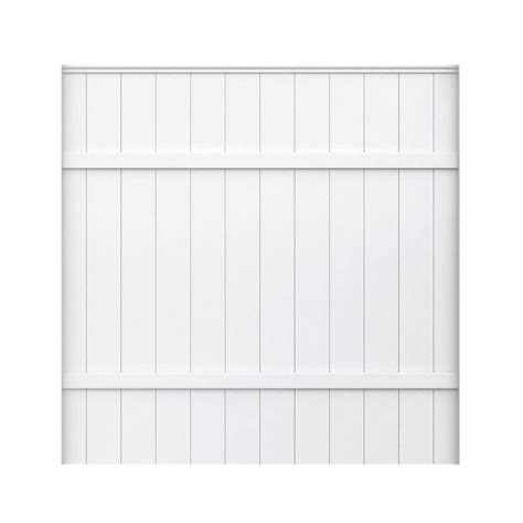veranda 6 ft h x 6 ft w white vinyl fence panel shop