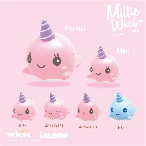 Squishy Ibloom Millie Billie Whale Normal Size 1 squishies bunnifulwishes