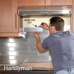 how to tile a backsplash the family handyman stainless steel kitchen backsplash the family handyman