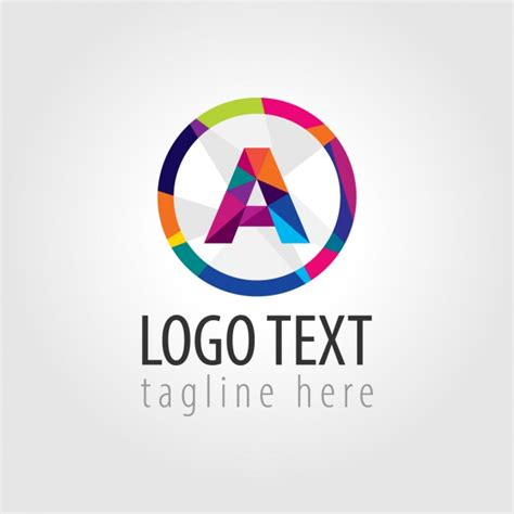 colorful circle logo colorful logo with a big a in the middle vector