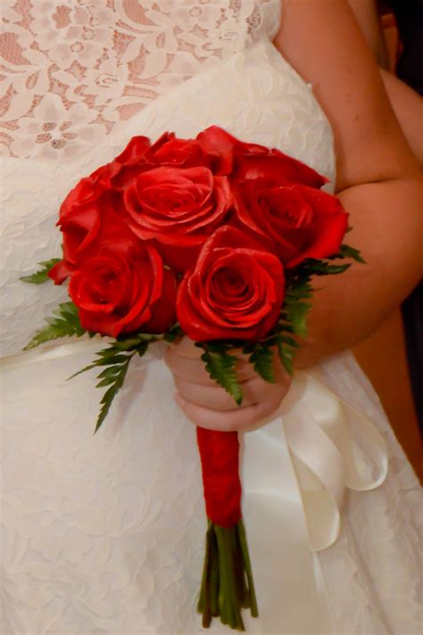rose hand tied bridal bouquets las vegas weddings