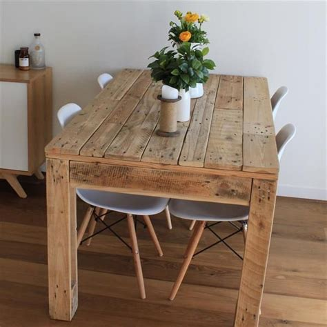 Diy Rustic Wood Dining Table Rustic Style Pallet Dining Table Pallet Furniture Diy Wooden Furniture Pallet