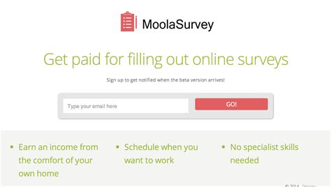 Fill Out Surveys For Money Canada - moolasurvey a better way to earn money filling out online surveys betalist