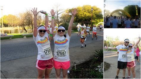 dallas color run pink pearls color run awesome giveaway