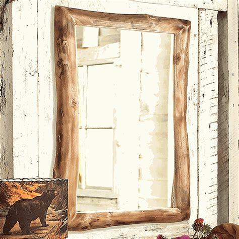 aspen log medicine cabinet mirror