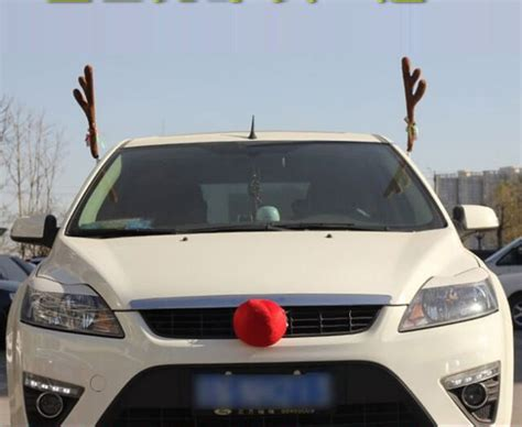 how to hook up car antlers and nose aliexpress buy car truck auto reindeer antlers costume dress up car