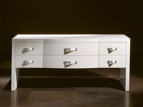 White Lacquer Chest Of Drawers by Nella Vetrina Rugiano Zion 3072 Luxury Chest Of Drawers