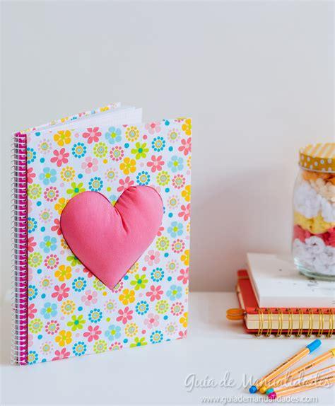 decorar cuadernos para decora tus cuadernos con un gran coraz 243 n gu 237 a de