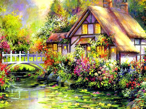 painting of houses wallpapers house art wallpapers