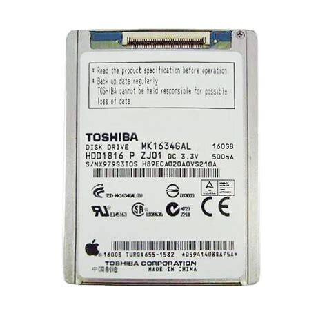 Harddisk 160gb Toshiba ipod classic 160gb drive toshiba replacement 7th generation fix sad
