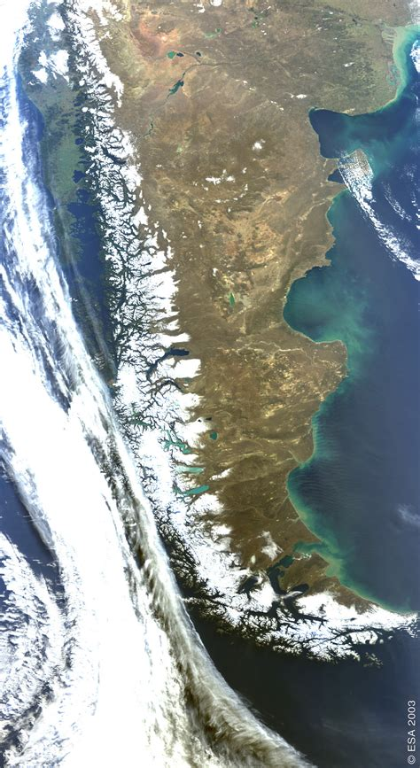 imagenes satelitales de la nasa satellite image photo of patagonia argentina