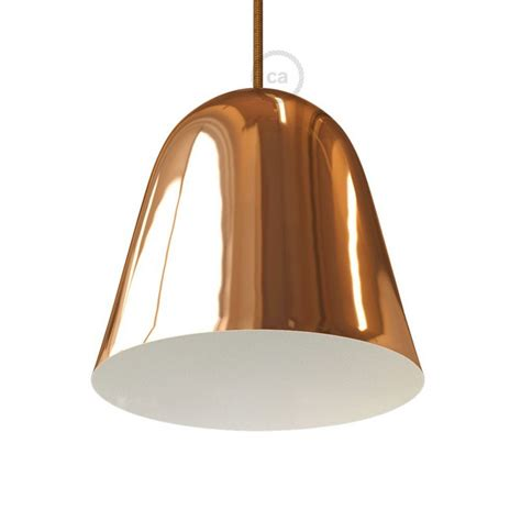 Lampshade Shapes by Shiny Copper Metal Bell Lampshade With Cable Retainer And