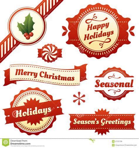 seasonal labels tags  banners  holidays stock vector image