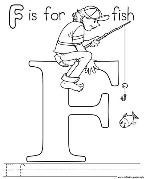 free coloring pages of f for fish
