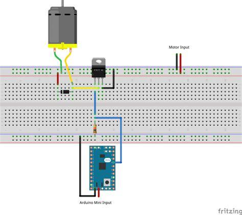 Arduino Tutorial Mosfet | arduino variable speed motor enrico simonetti dot com