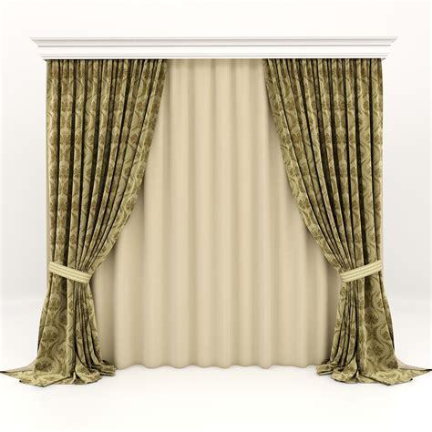 classic curtains curtains classic 3d model max fbx cgtrader com