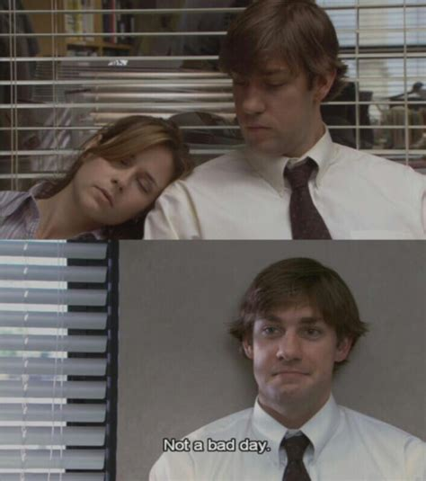 the office jim and pam not a bad day tv the office