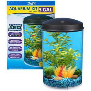 API Aquarium Kit with LED Lighting & Filter   Cylinder Aquarium Kits