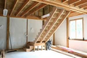 Stair to our barns loft space has 14 risers and 14 treads the landing