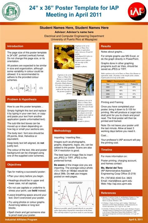 Free Poster Presentation Templates Poster Presentation Presentation Poster Template