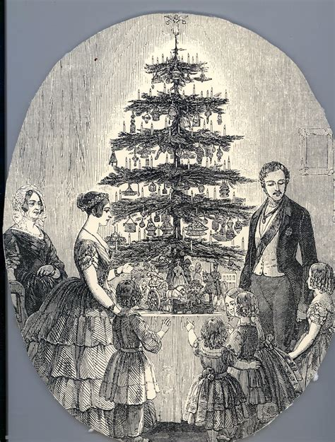 prince albert and the christmas tree with and albert in 1848