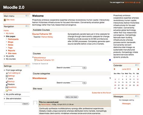 Moodle Theme Leatherbound | moodle plugins directory leatherbound