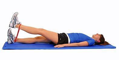 thera band loop knee open kinetic chain exercises exercise quads exercise