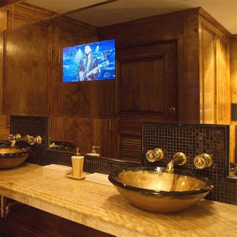 Television In Mirror For Bathroom Bathroom Mirrors With Built In Tvs