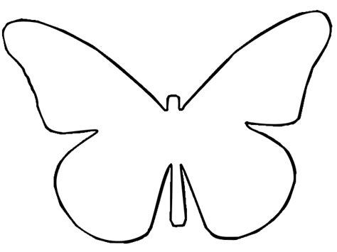 butterfly template outline butterfly template d printout