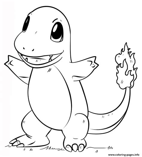 coloring page info charmander pokemon go coloring pages printable