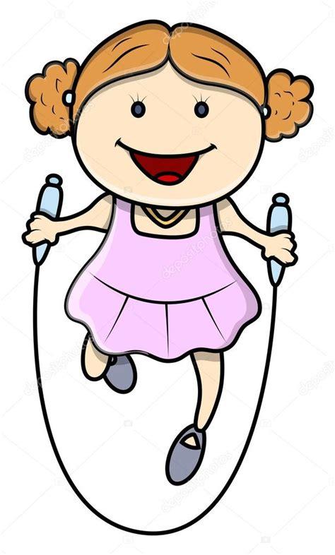 imagenes de niños jugando ala cuerda ni 241 a jugando a saltar a la comba ilustraciones