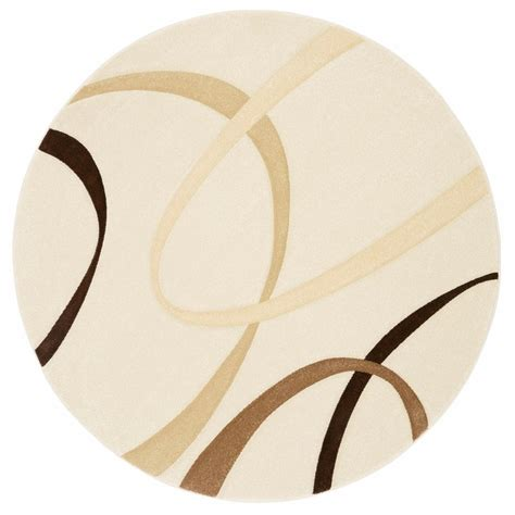 Tapis Salon Beige 3705 tapis rond graphique bilbao my home beige my home