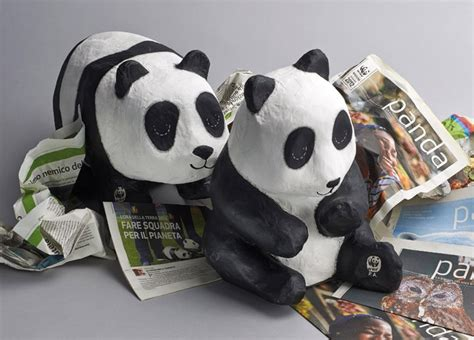 How To Make A Paper Mache Panda - paper alisea recycled reused objects design