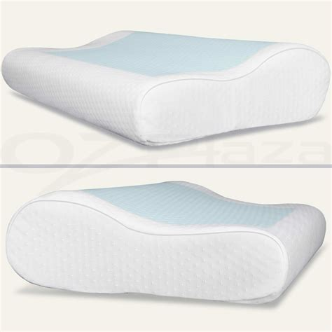 2x supreme high density memory foam pillow contour cool