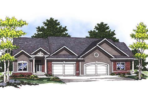 ranch duplex floor plans traditional ranch duplex 89253ah architectural designs