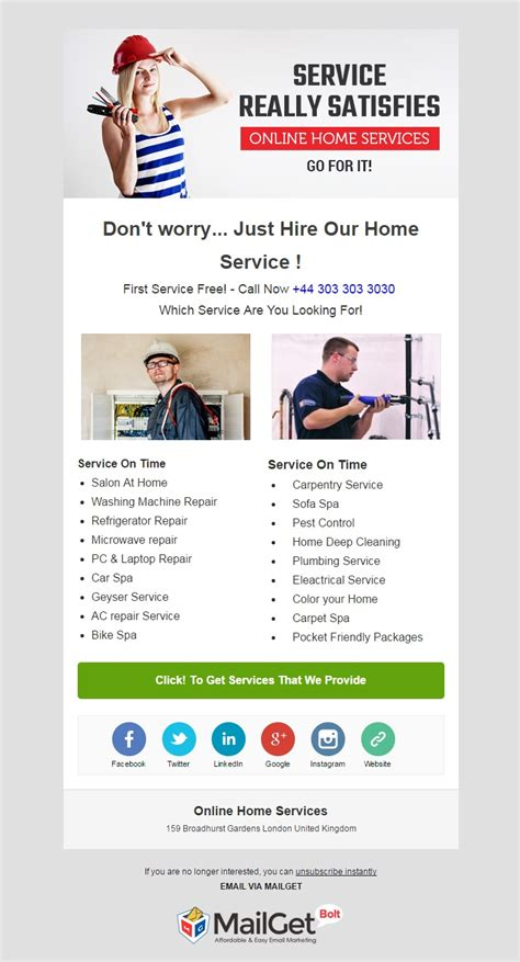 16 best home services email templates for housekeepers