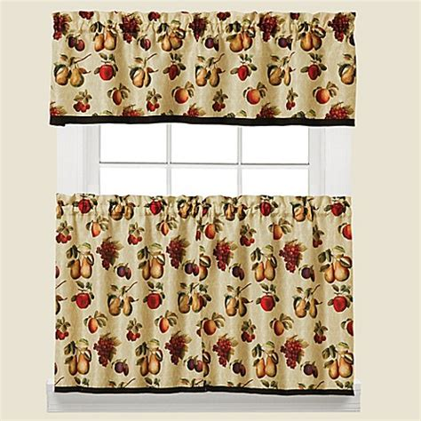 fruits du marche kitchen window curtain tier pair and