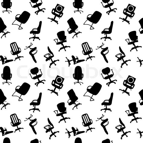 pattern silhouette vector seamless pattern of office chairs silhouettes vector