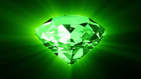 green jewel wallpaper animation of slowly rotation single perfect diamond with