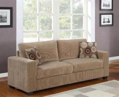 shelly deep beige corduroy fabric sofa contemporary