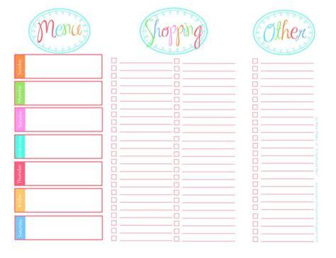 printable menu planner sheets 20 free menu planner printables fab n free