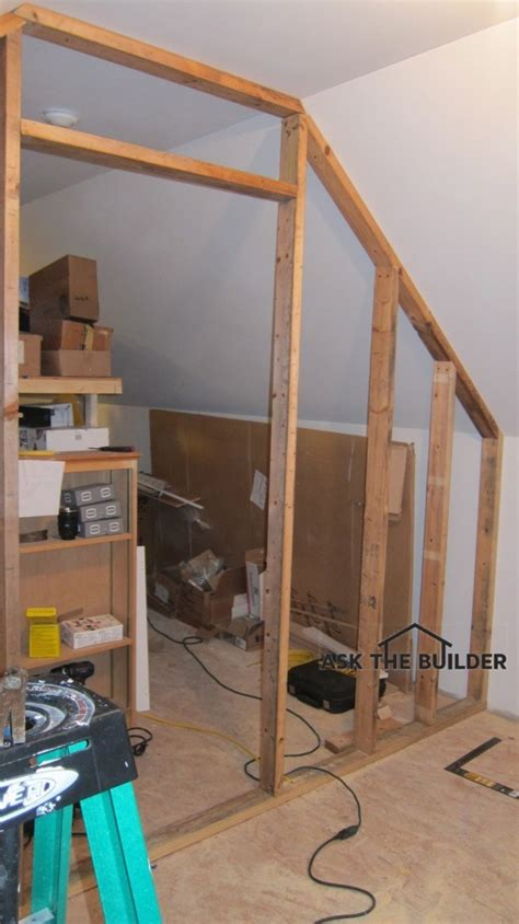 how to build a partition wall in a bedroom how to build a sloping partition wall ask the builderask