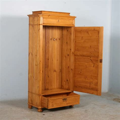 Narrow Armoire by Antique Pine Narrow One Door Armoire Cupboard Circa 1880