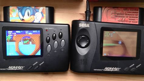 game gear tv out mod sega nomad screen mod side by side comparison youtube