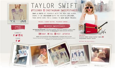 Sweepstakes Platform - instgram taylor swift ts1989 polaroid instagram sweepstakes metablocks