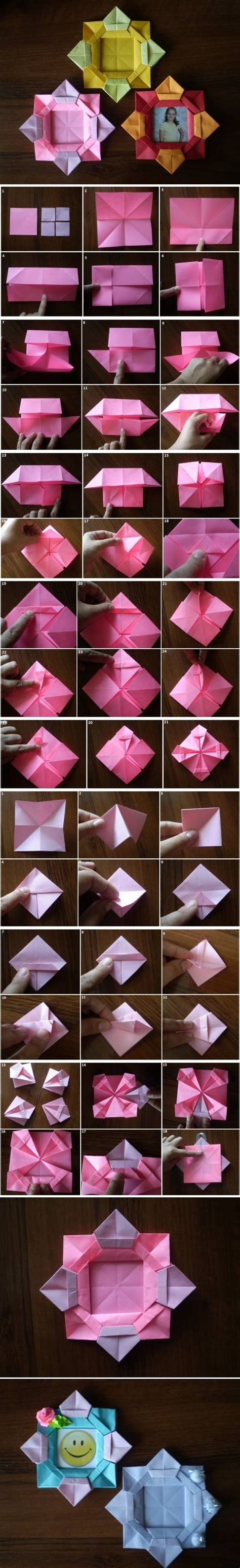 Frame Origami - diy origami flower picture frame pictures photos and