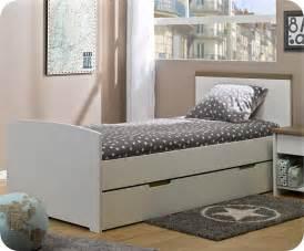 lit enfant gigogne island blanc 90x190 cm