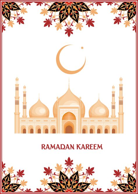 ramadan kareem card  decor frame vector